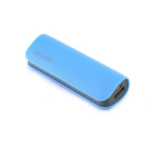PLATINET POWER BANK 2600MAH SKÓRA BLUE 43405