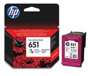 HP 651 COLOR TUSZ C2P11AE