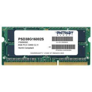PATRIOT DDR3 SODIMM 8GB 1600MHz PSD38G16002S