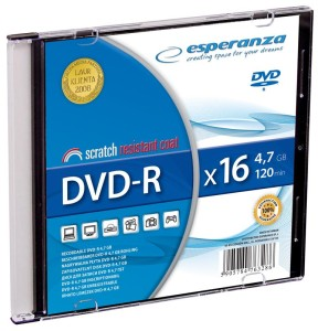 ESPERANZA DVD-R 4,7GB 16X SLIM JEWEL CASE*1
