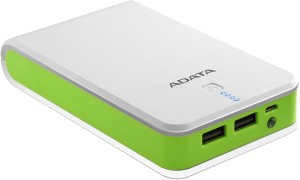ADATA P16750 16750mAh WHITE/GREEN 2.1 POWER BANK