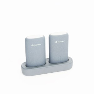 PLATINET 2*5000MAH DOCK.ST. GRAY POWER BANK 44242