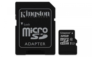 KINGSTON 32GB microSDHC CANVAS SELECT CL10 SDCS/32