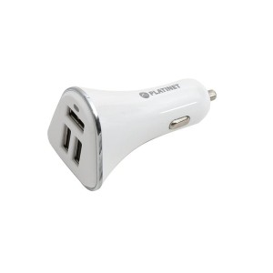 PLATINET PLCR3W CAR CHARGER 3*USB 5,2A WHITE 43722